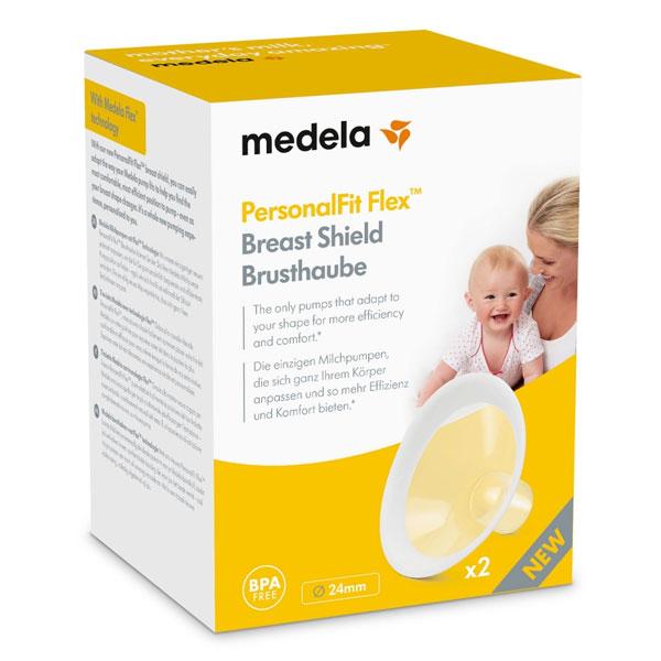 Medela Breast Shields PersonalFit Flex 24mm M Shaped Pack of 2 Breastshields