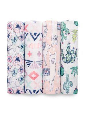 Aden + Anais Classic Swaddles Trail Blooms 4pk