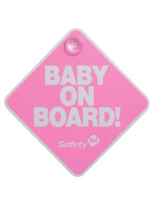 Safety1st Baby On Board Sign Pink