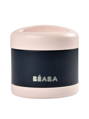 Beaba Stainless Steel Isothermal Portion 500ml Light Pink / Night Blue