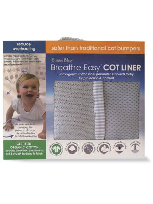 Bubba Blue Grey Cot Liner