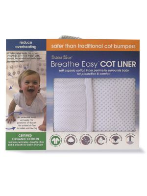 Bubba Blue White Cot Liner