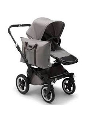 Bugaboo Donkey2+ Black Chassis Mineral Light Grey Mono Stroller - Online Only!