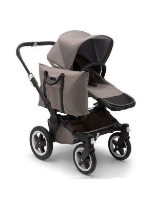 Bugaboo Donkey2+Black Chassis Mineral Taupe Mono Stroller - Online Only!