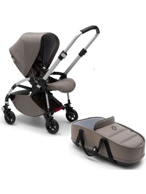 Bugaboo Bee5+ Mineral Aluminium Taupe + Bassinet - Online Only!