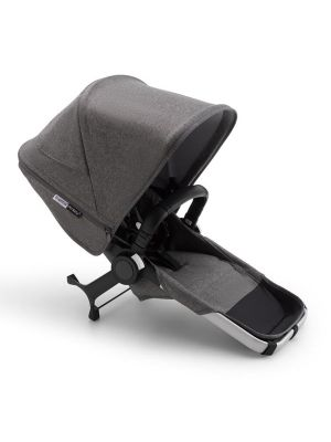 Bugaboo Donkey 3 Duo Extension Complete Aluminium/Grey Melange-Grey Melange - Due Early April 2020