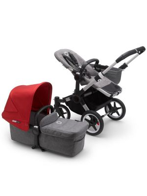 Bugaboo Donkey 3 Mono Complete Stroller Aluminium/Grey Melange-Red - Due in May 2020
