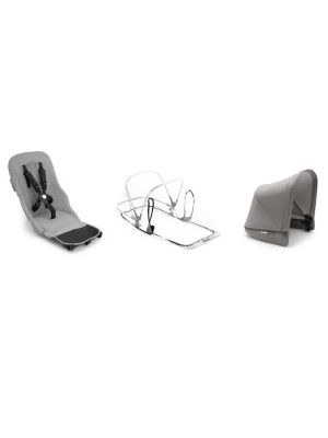 Bugaboo Donkey2 Mineral Duo Fabric Set Complete Light Grey