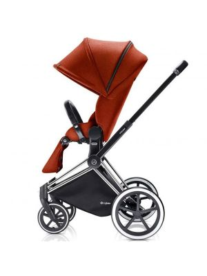 Cybex Priam 2017 Trekking Chrome Chassis with 2 in 1 Seat Autumn Gold - Online Only!