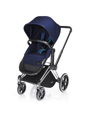 Cybex Priam 2017 Trekking Chrome Chassis with 2 in 1 Seat Royal Blue - Online Only!