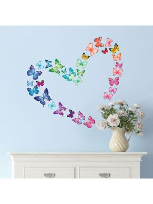 Decowall 30 Vibrant Wall Stickers Butterfly