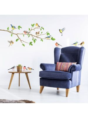 Decowall Garden Birds Wall Stickers