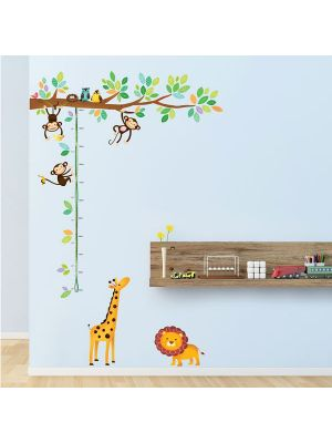 Decowall Little Monkeys and Animals Height Chart