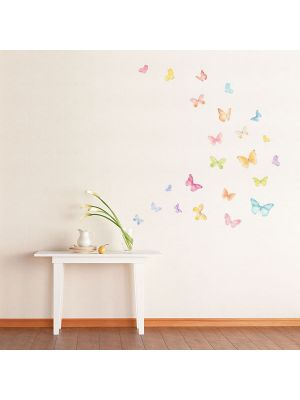 Decowall Pastel Wall Stickers Butterfly