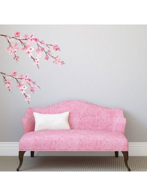 Decowall Watercolour Wall Stickers Cherry Blossoms