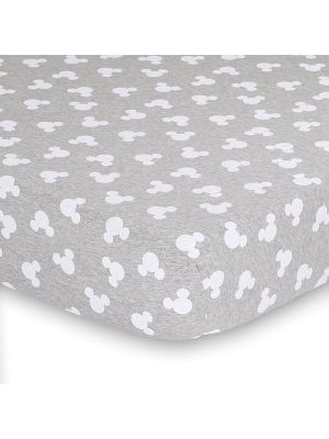 Disney Mod Mickey Fitted Sheet Grey Marle