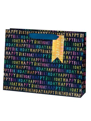 Waterlyn Glick Birthday Script Collection Blue Gift Bag