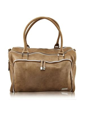 Isoki Double Zip Satchel Latte