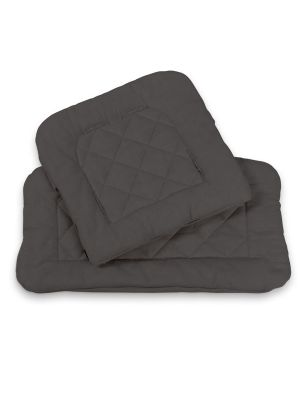 Kidsmill Up! Highchair Cushion Set Quilted Anthracite
