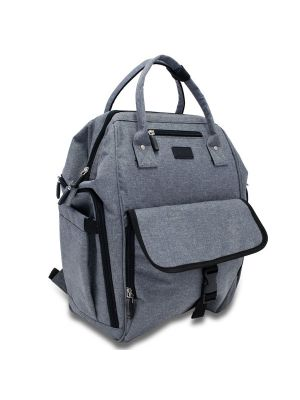 La Tasche Urban Nappy Bag Grey With Black Trim