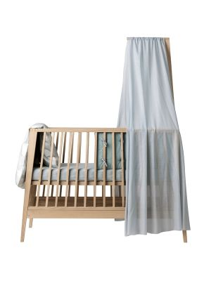 Leander Linea Cot Canopy - Misty Blue