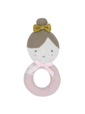 Living Textiles Knitted Rattle Sophie The Ballerina