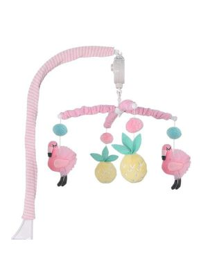 Lolli Living Flamingo Cot Musical Mobile Set