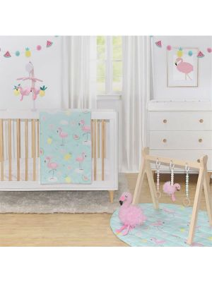 Lolli Living Flamingo 4pc Nursery Set