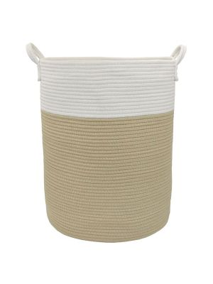 Living Textiles Cotton Rope Hamper White/Natural