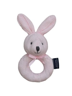 Living Textiles Rattle Bunny Pink