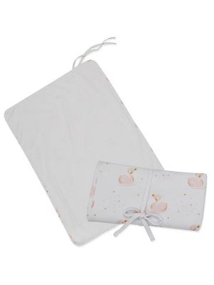 Living Textiles Swan Princess Travel Change Mat