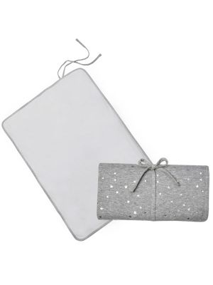 Living Textiles Waterproof Travel Change Mat Silver Stars