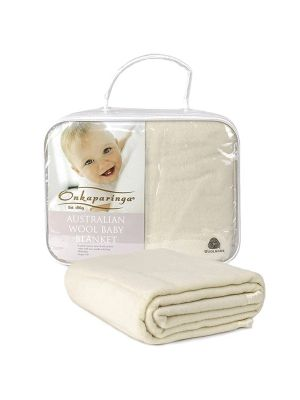 Onkaparinga Wool Cot Blanket Cream