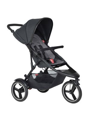 Phil&Teds Dash V6 Black with Charcoal Cushy Ride Liner