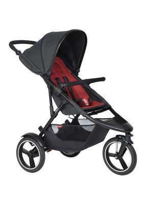 Phil&Teds Dash V6 Black with Chilli Cushy Ride Liner