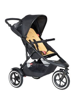 Phil&Teds Sport V6 Black with Butterscotch Cushy Ride Liner