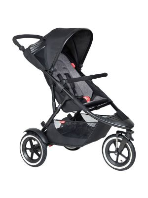 Phil&Teds Sport V6 Black with Charcoal Cushy Ride Liner