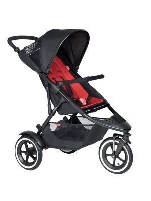 Phil&Teds Sport V6 Black with Chilli Cushy Ride Liner