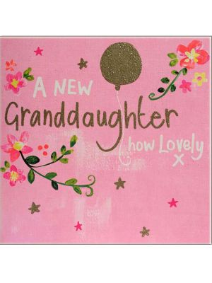 Waterlyn Paper Salad A New Granddaughter Greeting Card