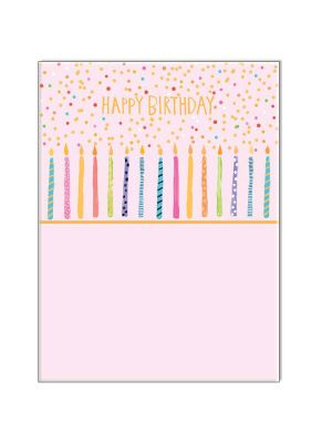Waterlyn Paper Salad Happy Birthday Candles Greeting Card