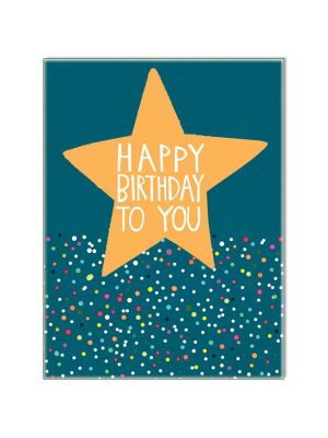 Waterlyn Paper Salad Happy Birthday to You Navy Greeting Card