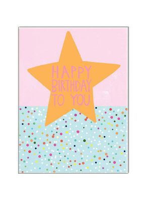Waterlyn Paper Salad Happy Birthday to You Pink Greeting Card