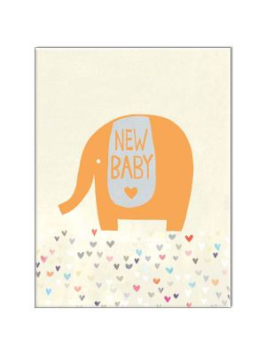 Waterlyn Paper Salad New Baby Greeting Card