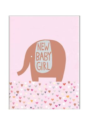 Waterlyn Paper Salad New Baby Girl Greeting Card