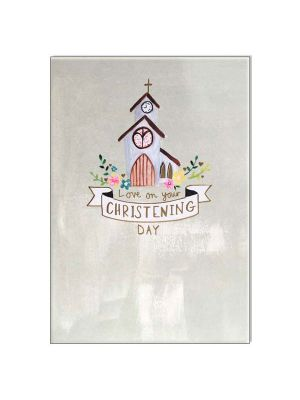 Waterlyn Paper Salad On Your Christening Day Greeting Card