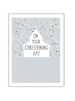 Waterlyn Paper Salad On Your Christening Day Card