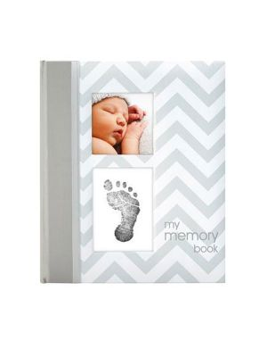 Pearhead Baby Book Chevron Grey