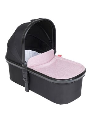 Phil&Teds Snug Carrycot V6 Black with Blush Carrycot Lid