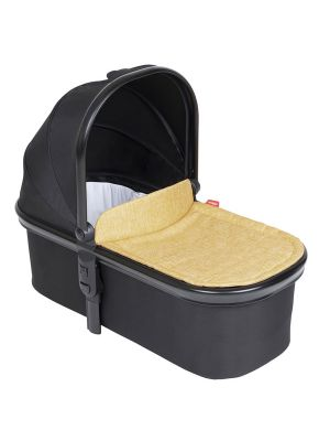 Phil&Teds Snug Carrycot V6 Black with Butterscotch Carrycot Lid