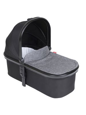 Phil&Teds Snug Carrycot V6 Black with Charcoal Carrycot Lid
